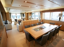 The interior design was put together by Sunseeker's experienced in house team working closely with Interior Designer, Kris Turnbull
