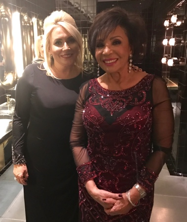 Sunseeker London Group's Operations Director Kim Tilley with Dame Shirley Bassey