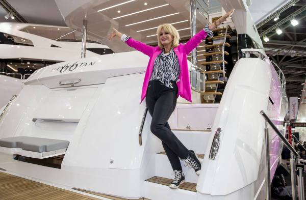 Joanna Lumley launching the Manhattan 66