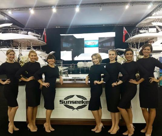 The beautiful Sunseeker Hostesses
