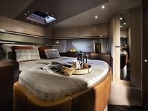 The master cabin is stylishly designed