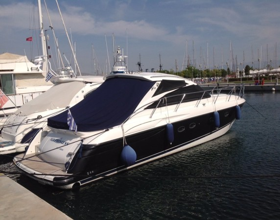 Princess V48 was a match for her new owner, who enjoys cruising in Greece!