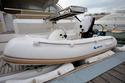 'LADY T' is sold with a 2.3m RIB and 6hp Yamaha outbound engine.