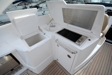 The electric BBQ and electric cool box creates the perfect cockpit Space for entertaining.