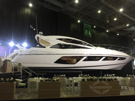 The stunning Predator 57 on the Sunseeker stand