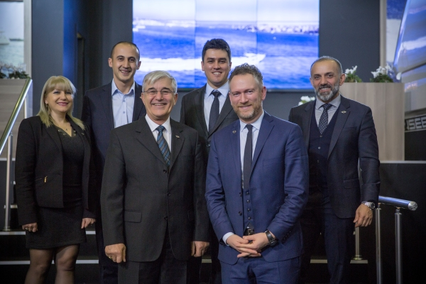 The Sunseeker Turkey team looking proud of their recent successes at the Eurasia Boat Show 2017