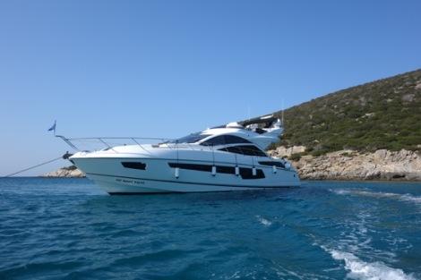 The sleek Sunseeker 68 Sport Yacht 'LARA' has been sold by Matt Stanton in conjunction with Ensign Ship Brokers