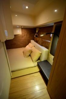 Luxurious Mid cabin to port side with a luxurious double berth.