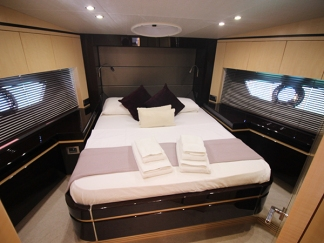 This boat exudes style, luxuryand comfort