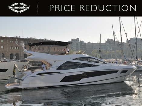 The Sunseeker Manhattan 55, 'HAKUNA MUTATA' is currently laying in Port Adriano ready for viewings from potential new owners
