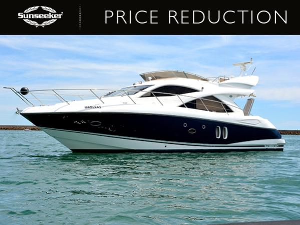 'Imolyas', the Sunseeker Manhattan 50, is being sold by Steve Handy of Sunseeker Portugal