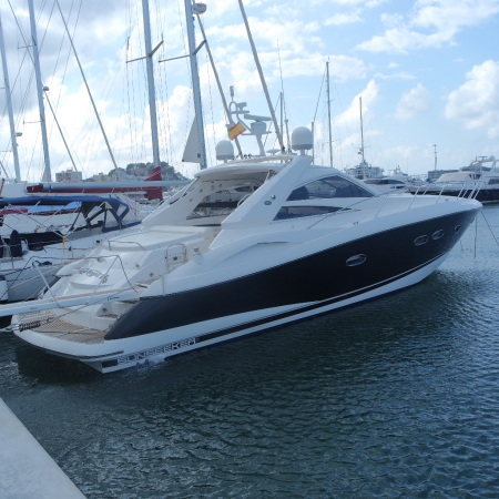 'AFRAID KNOT 2', the Sunseeker Portofino 53, is being sold by Thomas Wills of Sunseeker Torquay