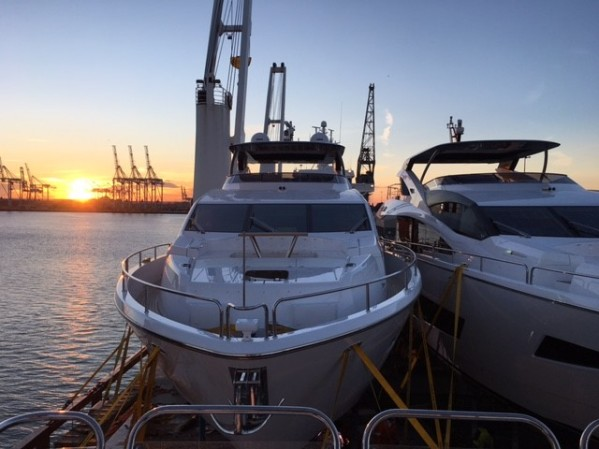 Looking beautiful over sunset, the spectacular 86 Yachts