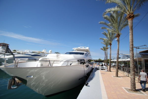 The Sunseeker 95 on display at Puerto Portals