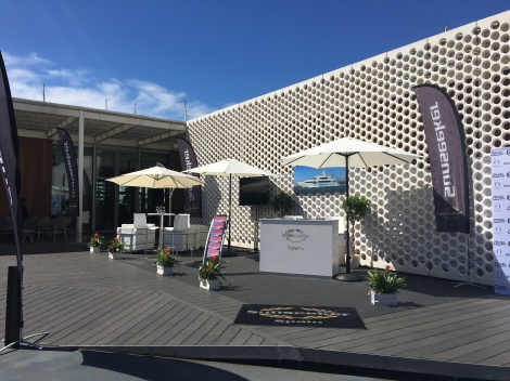 The Sunseeker Spain stand outside OneOcean Club