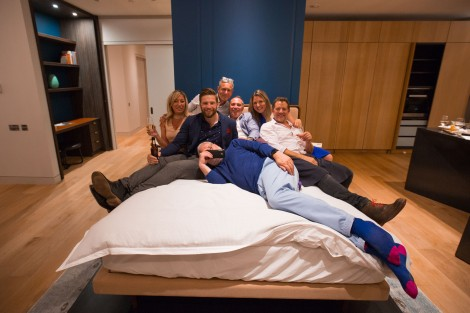 The Sunseeker Poole team getting into bed with the famous duo!