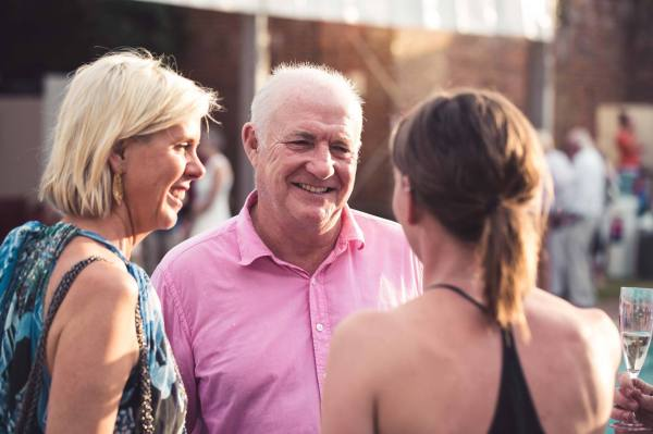 Guests enjoy the opportunity to talk to Rick Stein himself as he describes how he created the delightful dishes on offer for the evening
