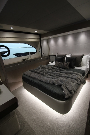 The Beautifully dressed double cabin on the 76 Yacht