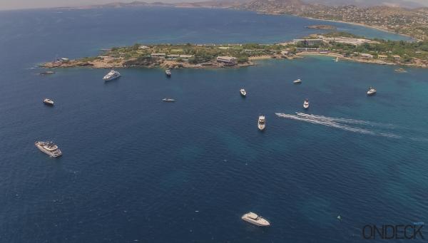 The beautiful bay of Lagonissi