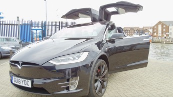 Guests endured a thrilling ride in a Tesla