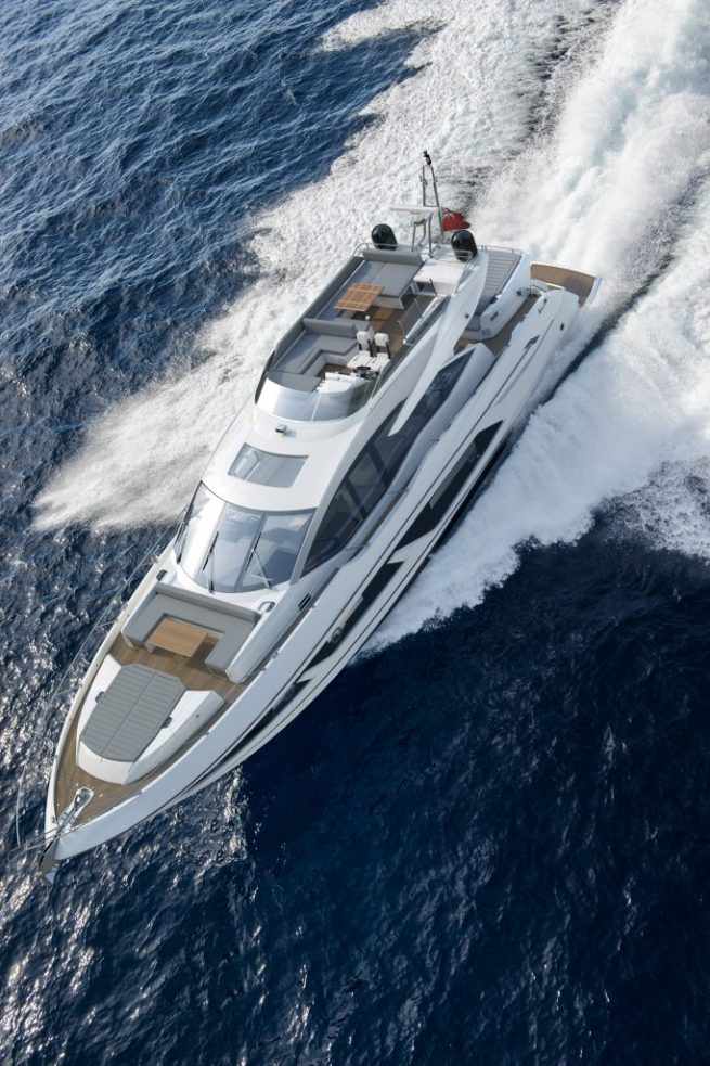 The beautiful 74 Sport Yacht will be on display and available for viewing
